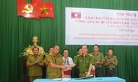 Công an Việt Nam - Lào đảm bảo an ninh trật tự trên tuyến biên giới