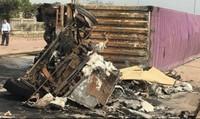 Xe container biển Lào bốc cháy, 2 người tử vong