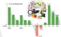 [Infographic] Chỉ số giá tiêu dùng tháng 10 tăng 0,41%