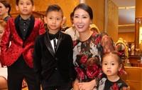 Hà Kiều Anh cùng 3 con hội ngộ dàn sao trong sự kiện ở TP HCM