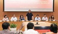 Đoàn đại biểu  Quốc hội TP Hà Nội làm việc với  lãnh đạo thành phố