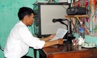 Tuyên truyền pháp luật bằng loa truyền thanh vẫn phát huy hiệu quả