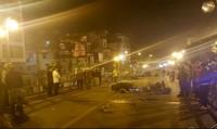 Tai nạn trên cầu vượt Thái Hà, 1 người chết, 2 người bị thương nặng