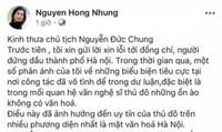 Chủ tịch Chung yêu cầu làm rõ 'thư kêu cứu' của vợ Xuân Bắc