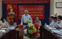 Tổng Cục trưởng Hoàng Sỹ Thành làm việc với Cục Thi hành án dân sự tỉnh Vĩnh Phúc