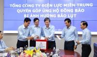 EVNCPC kêu gọi 1. 200 CBCNV ủng hộ đồng bào miền Trung bị thiệt hại do bão lụt