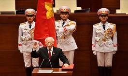 Clip: Tân Chủ tịch nước Nguyễn Phú Trọng tuyên thệ nhậm chức