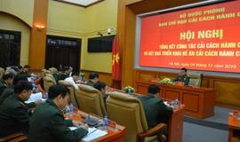 Bộ Quốc phòng tổng kết công tác cải cách hành chính năm 2018