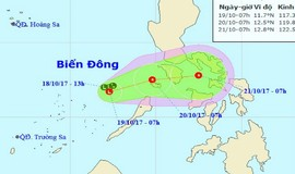 Siêu bão hút vùng áp thấp ra khỏi Biển Đông, Trung Bộ mưa lớn