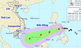 Bão giật cấp 11 sắp đổ bộ Biển Đông