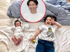 Hai condễ thương của diễn viên Bong Tae Gyu. Cậu nhóc đầu nhà họ Bong đã 3 tuổi, trong khi bé gái thứ hai vừa chào đời.