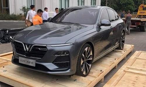Rò rỉ hình ảnh đầu tiên về Sedan VinFast Lux A2.0 tại Việt Nam
