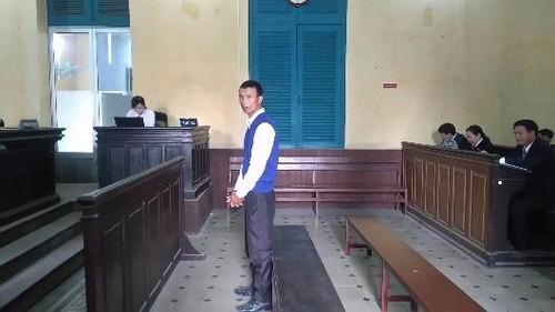 Bị cáo Tính trong phiên tòa phúc thẩm.