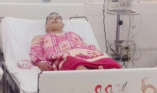 Nam thanh niên L. T. T. đang được theo dõi điều trị tại bệnh viện.