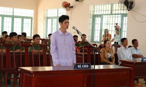 Bị cáo Hải tại phiên tòa