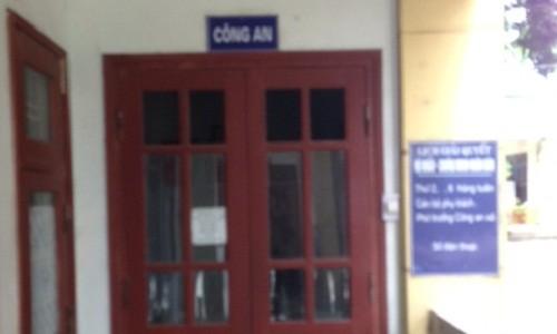 Phòng làm việc của Công an xã Đồng Rui