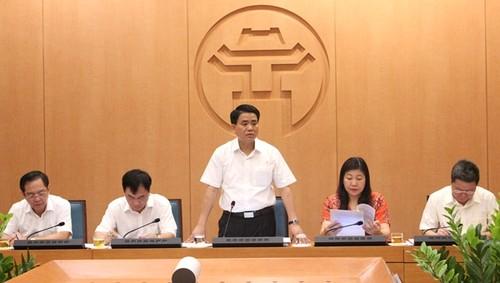 Chủ tịch UBND TP Nguyễn Đức Chung phát biểu tại buổi kiểm tra