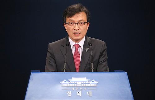 Người phát ngôn Phủ Tổng thống Hàn Quốc Kim Eui-kyeom. (Ảnh: Yonhap News/VTV)