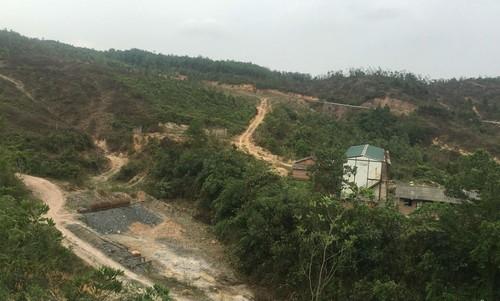 Khu mỏ khai thác quặng antimon tại xã Quảng Thành của Xí nghiệp Thống Nhất. Ảnh Báo Tài nguyên Môi trường