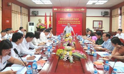 Đoàn giám sát của Hội đồng quản lý BHXH Việt Nam làm việc tại BHXH tỉnh Bắc Giang