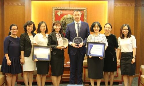 MB được Ngân hàng JP Morgan Chase trao tặng giải thưởng STP