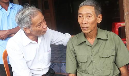 Ông Bình trở về sau 25 năm được xác định là liệt sỹ hi sinh tại Campuchia.