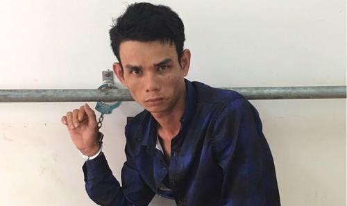 Nguyễn Văn Tâm tại Cơ quan điều tra. Ảnh: Công an Hậu Giang.