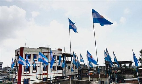 Quốc kỳ Argentian tại Dhaka, Bangladesh. (Nguồn: AFP)