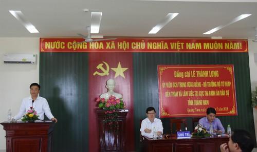 Bộ trưởng phát biểu tại buổi làm việc với Cục THADS tỉnh