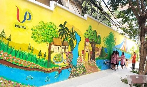 Bức tranh làng lụa Vạn Phúc