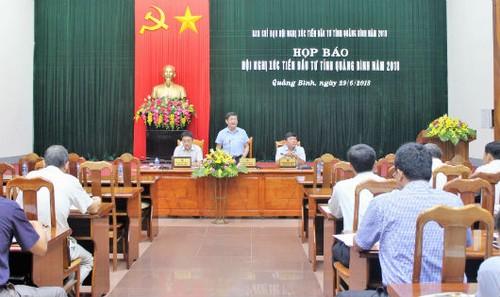 Họp báo Hội nghị xúc tiến đầu tư tỉnh Quảng Bình năm 2018