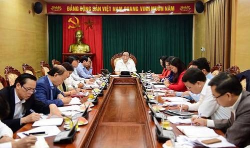 Bí thư Thành ủy Hoàng Trung Hải chủ trì buổi làm việc