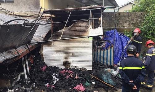 Hiện trường vụ hỏa hoạn khiến cụ bà 86 tuổi tử vong (ảnh Q.T)