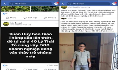 Trang facebook bôi nhọ PV Báo Giao thông