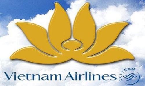 Biểu tượng bông sen vàng là hình ảnh ấn tượng trên logo của Vietnam Airlines.