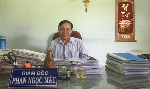 Ông Phan Ngọc Mậu, Giám đốc kiêm Bí thư Chi bộ Công ty dâu tằm tơ Tân Lộc
