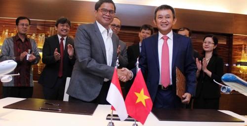 Ký kết hợp tác giữa Vietnam Airlines và Hãng  hàng không Garuda Indonesia