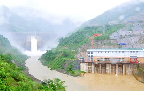 Thủy điện Bản Vẽ (Nghệ An) - nơi có thể chịu ảnh hưởng của cơn bão số 10