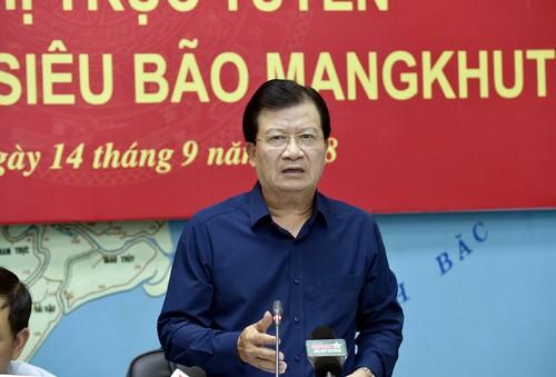 Phó Thủ tướng yêu cầu tất cả các bộ, ngành, địa phương khẩn trương, quyết liệt đối phó bão Mangkhut