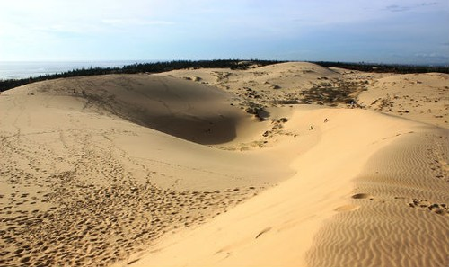 Quảng Bình có đường bờ biển dài 116 km, với những cồn cát trắng mênh mông