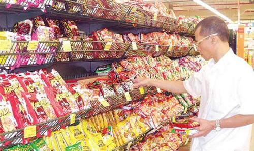 Các nhãn hàng mì gói đua nhau giành thị phần. Ảnh minh họa