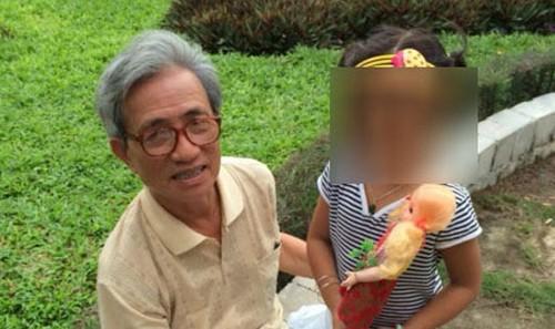 Cụ ông này được xác định là có hành vi dâm ô với cháu bé ở cùng chung cư.  