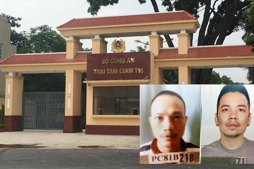 Khởi tố vụ án hai tử tù trốn khỏi trại giam