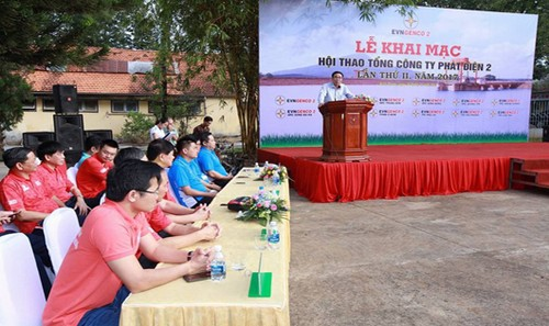 Hội thao diễn ra tại Thủy điện Thác Mơ - Bình Phước