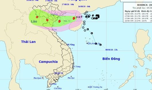 Bão hoành hành Vịnh Bắc bộ, tâm khả năng tràn vào Quảng Ninh - Nghệ An