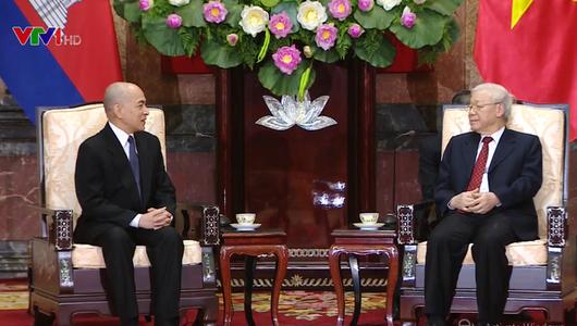 Tổng Bí thư, Chủ tịch nước: Việt Nam luôn coi trọng quan hệ hữu nghị, hợp tác tốt đẹp với Campuchia