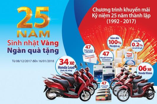 Mừng 25 thành lập, Ngân hàng Bản Việt tri ân khách hàng với hơn trăm ngàn quà tặng
