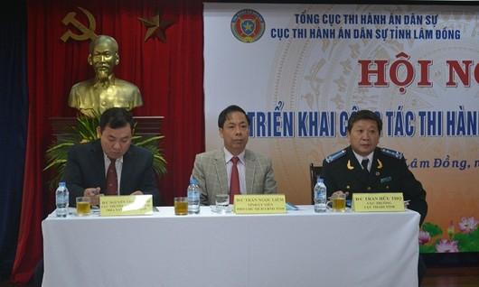 Lâm Đồng: Hội nghị triển khai công tác thi hành án dân sự năm 2018