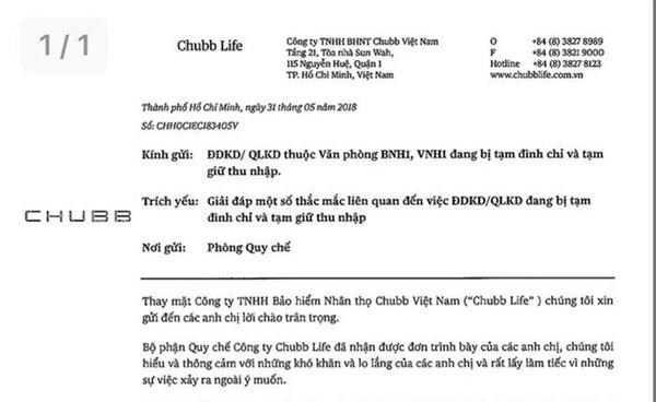 Khách hàng và đại lý Công ty BHNT Chubb Việt Nam cùng 'kêu cứu'