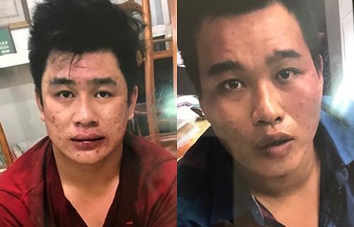 Tài Mụn và Phú sau khi bị bắt. Ảnh: Q.T